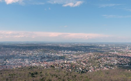 Downtown Stuttgart from the TV tower